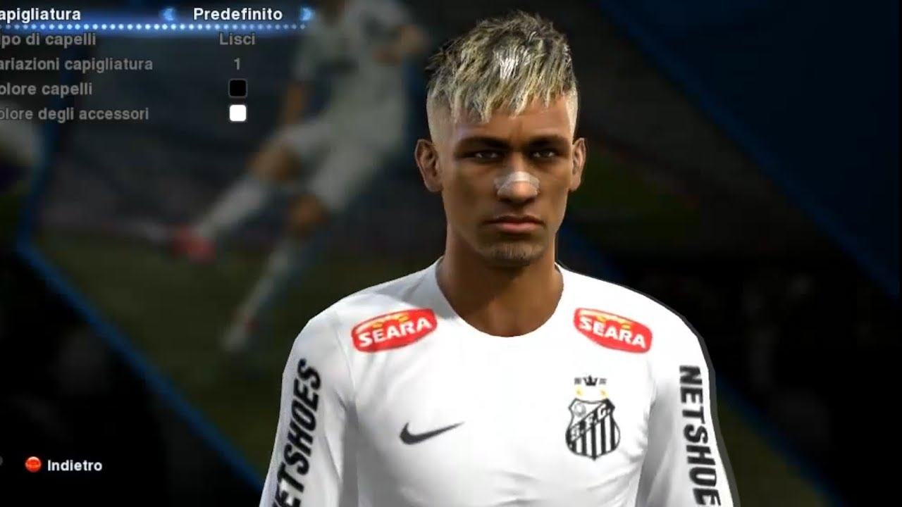 Pes 2013 Neymar New Face Edit Install Youtube