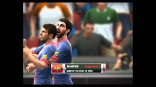 [ PES 2013 ] barcelona vs real sociedad Full Match goal