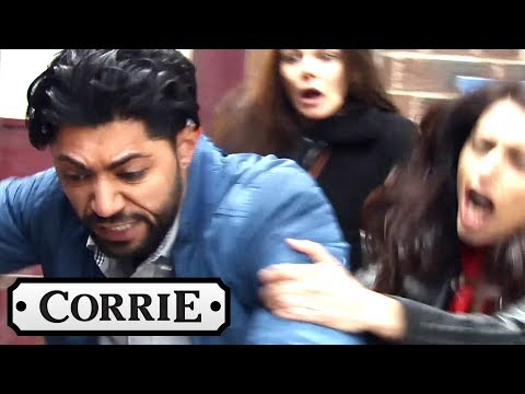 Coronation Street - Zeedan Punches a Man Harassing Kate and Rana
