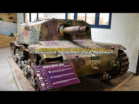 Semovente M40 da 75/18 Walkaround - Saumur Tank Museum - Musée Des Blindés.