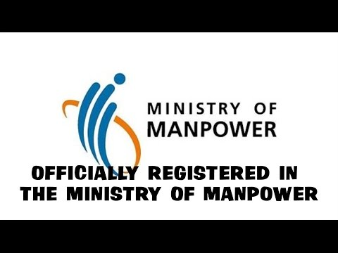 Officially Registered In The Ministry Of Manpower