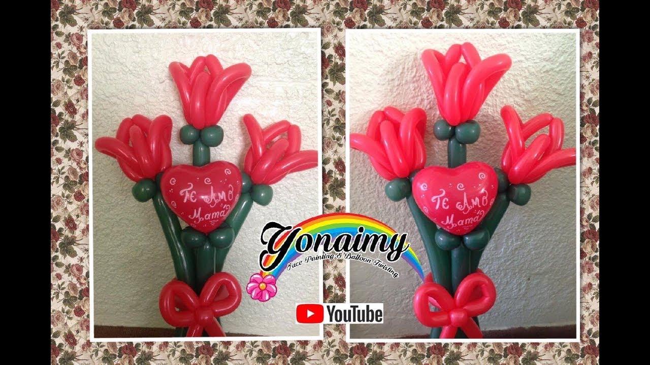 Tulipanes grandes en ramo ideal para este dia de las for Decoracion para pared dia de la madre