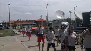 Чемпионат мира 2019 по пляжному футболу Сенегал Россия Сборная России прибыла на стадион