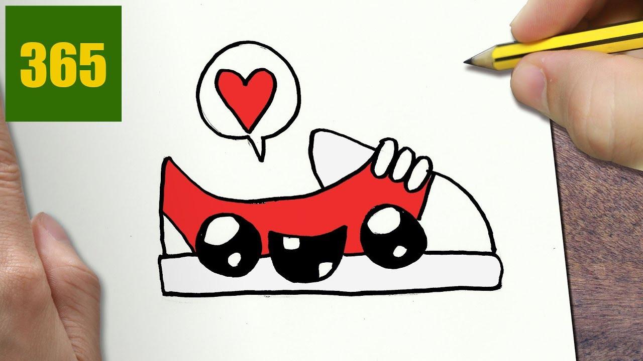 come disegnare scarpe da ginnastica kawaii passo dopo passo disegni kawaii facile youtube. Black Bedroom Furniture Sets. Home Design Ideas