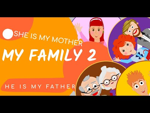 Kids Vocabulary - My Family- Family Members - Learn English For Kids - English Educational Video.