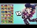 BIBI 1v1 against EVERY Brawler | Her knockback is CRAZY!