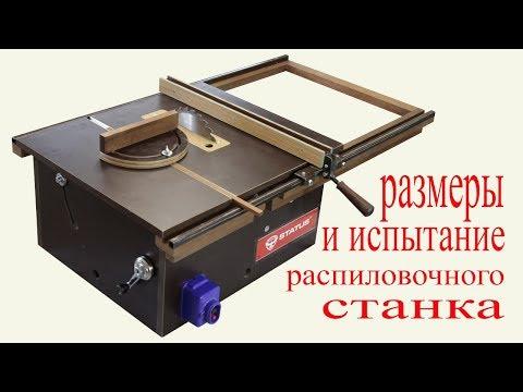 Размеры и испытание распиловочного станка. Circular Sawing Machine`s Overall Dimensions.