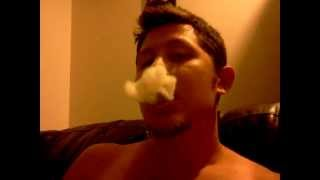 French inhale, smoke ring tutorial