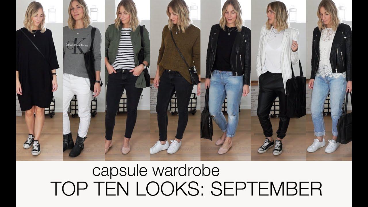 Capsule wardrobe Top ten looks September scandinavian climate