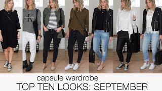 Capsule wardrobe - Top ten looks: September (scandinavian climate)