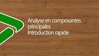 Analyse en Composantes Principales ou ACP