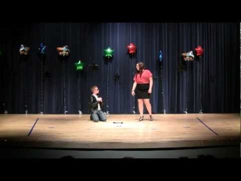 "Cash Laws performing ""You're The One That I Want"" from ""Grease""  at a duet singing recital 2012"