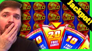 JACKPOT HANDPAY! LANDING 20 SPINS On MAX BET on Wild Fury Slot Machine W/ SDGuy1234
