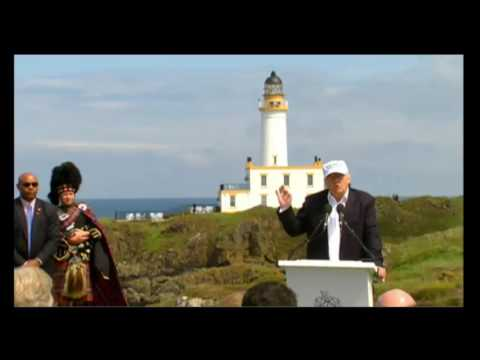 Donald Trump Turnberry Scotland Press Conference - Brexit 6/24/16