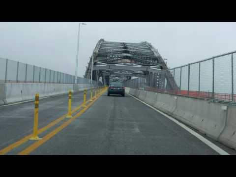 Bayonne Bridge southbound [Late 2017 Construction Update]
