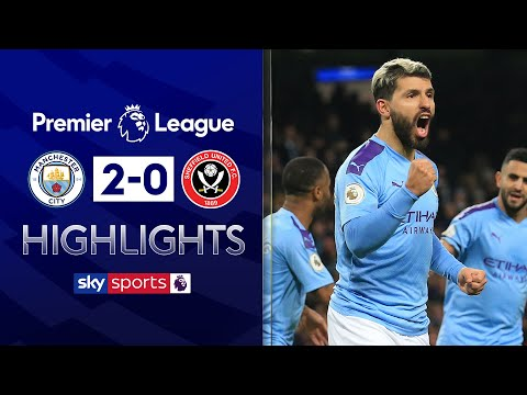 Aguero & De Bruyne score as Man City sweep aside Sheff Utd | Man City 2-0 Sheff Utd | EPL Highlights