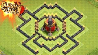 Clash of Clans - AIR SWEEPER Town Hall 7 Trophy Base (TH7) New Update Air Sweeper