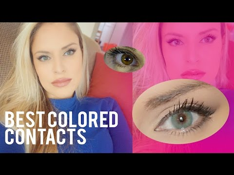 Best Colored Contacts for Dark Brown Eyes - Aqua Blue - Solotica Hidrocor Marine