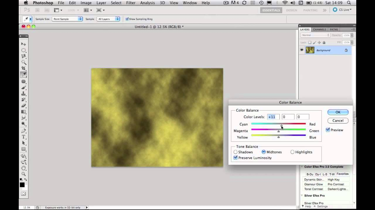 Create A Background Texture Using Photoshop Cs5 Youtube