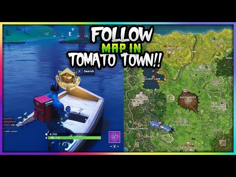 FORTNITE 'FOLLOW THE TREASURE MAP FOUND IN TOMATO TOWN' CHALLENGE COMPLETE!