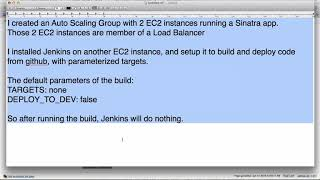Use Jenkins and AWS to do Auto Scaling, Auto Deployment