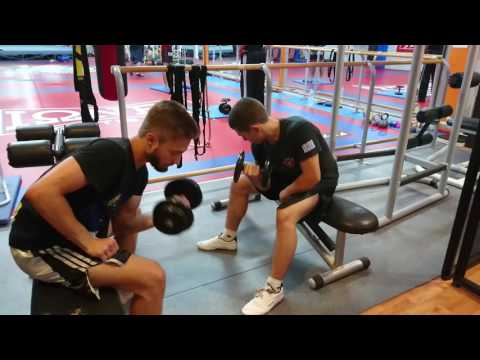 Nick Kourmousis Training For The Kick Boxing World Championship 2016 In Dublin, Ireland