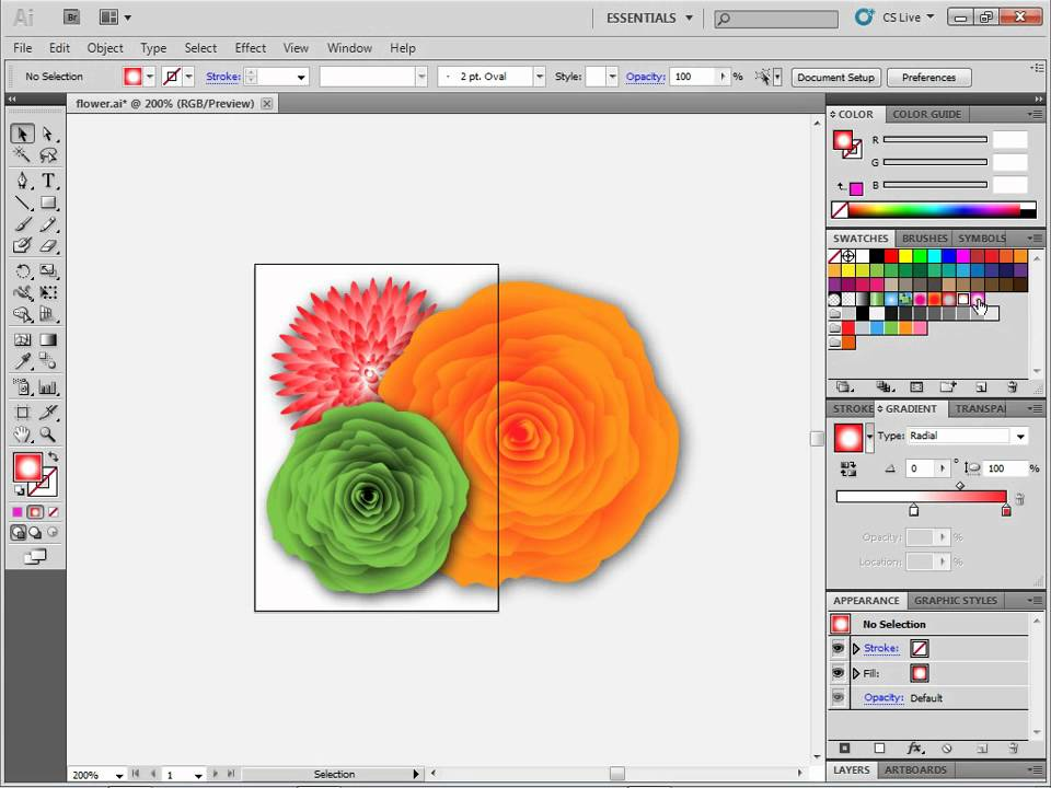 Replace a color in artwork within Illustrator - YouTube