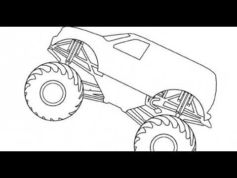 Monster truck grave digger coloring pages ~ Grave Digger Monster Truck Coloring Pages AZ Coloring Pages - YouTube