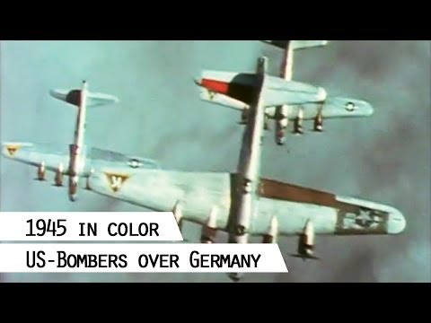 B-17- and B-24 Liberator squadrons flying over Germany (SFP 186)