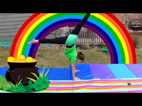 END OF THE RAINBOW GYMNASTICS GAME | St. Patrick