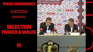 Press conference Marc Wilmots: selection Belgian Red Devils France & Wales