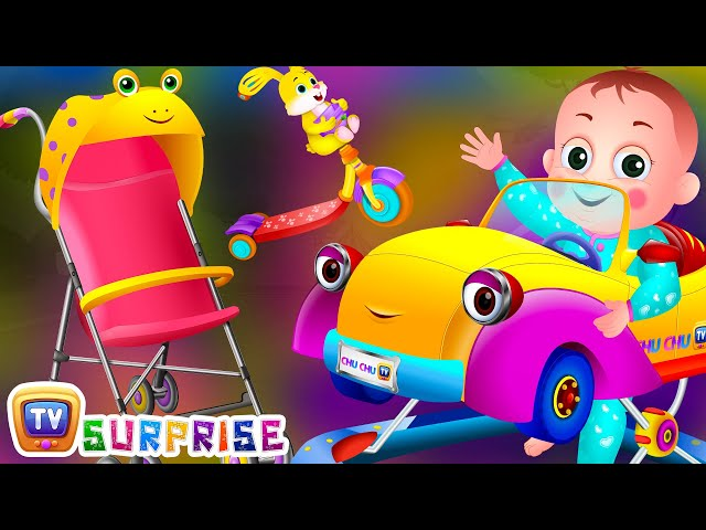 Surprise Eggs Toys Baby Vehicles For Kids Stroller