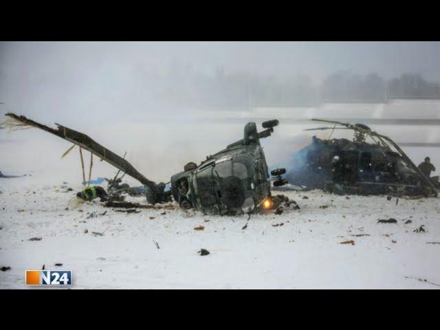 Berliner Olympiastadion - Zwei Polizei-Hubschrauber bei Übung kollidiert