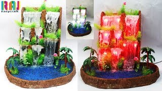 How to make waste newspaper water fountain || best out of waste || DIY art and craft