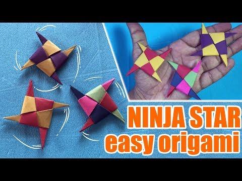 Easy paper ninja star|  How to make paper ninja star|  Ninja star origami