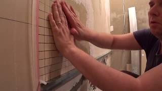 Елітний ремонт. Ванна кімната. Італійська плитка. Облицювання мозаїкою.