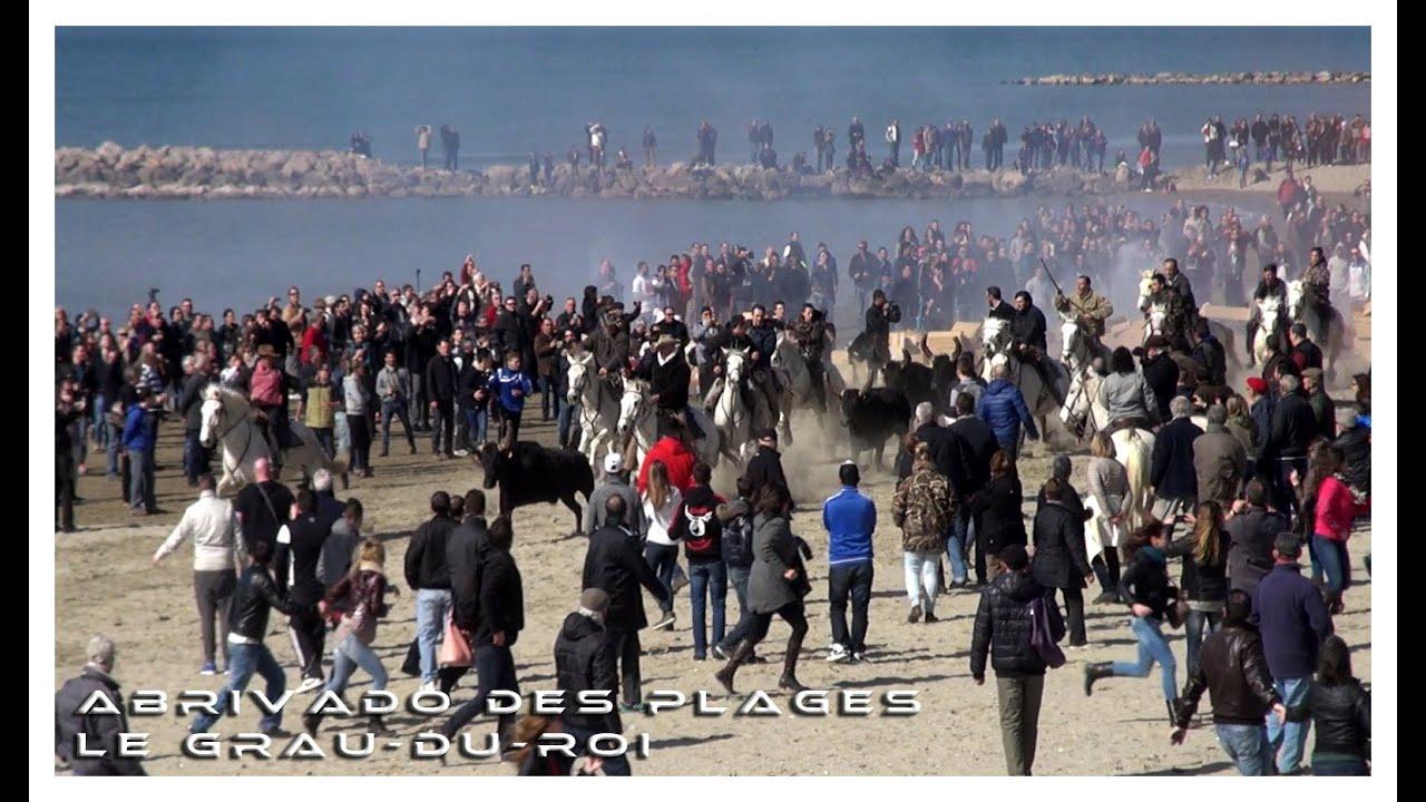 Abrivado des plages le grau du roi 07 03 2015 youtube for Lac salonique grau du roi