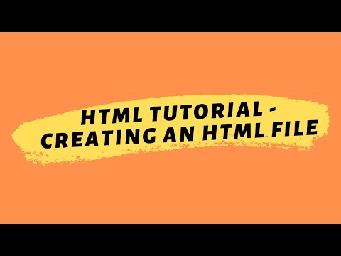 HTML Tutorial 2020 | Creating An HTML File thumbnail