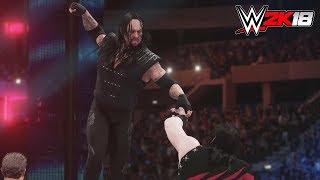 WWE 2K18 - Gameplay PS4 Pro / Xbox One Undertaker vs Kane '98 Extreme Rules