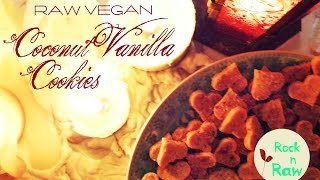 Coconut Vanilla Cookies Raw Vegan!