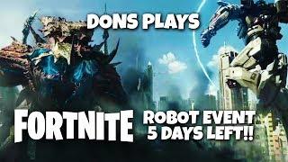 🔴 Live || Fortnite Robot Event 5 Days Left!!! || 20K Vbucks Giveaway || 500 Like Goal🔴