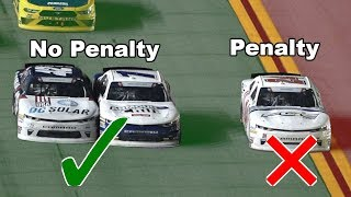 Yellow Line Controversy in NASCAR