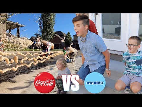 COCA COLA AND MENTOS EXPERIMENT | DIET COKE AND MENTOS AQUARIUM | HOMEMADE COKE AND MENTOS ROCKET thumbnail