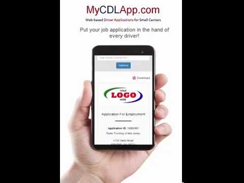 MyCDLapp.com puts your job application in the hands of every driver!