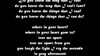 The smashing pumpkins - Tear LYRICS