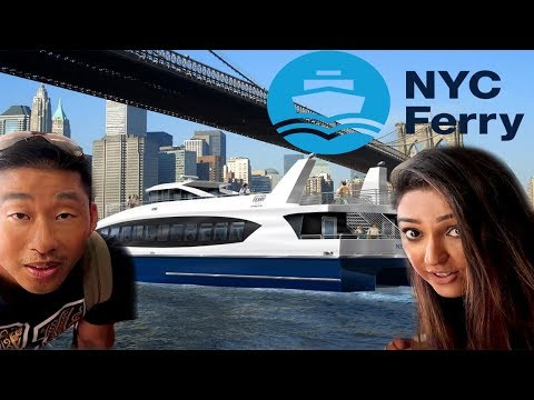 Taking the NYC Ferry Astoria  to Manhattan and brooklyn