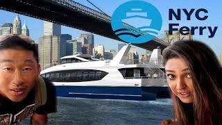 Taking the NYC Ferry Astoria  to Roosevelt Island to Long island city  to Manhattan and brooklyn