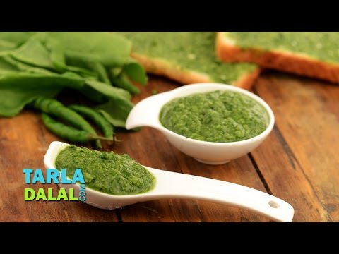 Green Chutney (Mumbai Roadside Recipe) by Tarla Dalal