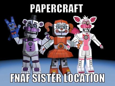 Nuevos papercraft de Fnaf sister location