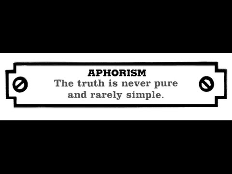 Aphorism - Examples Of